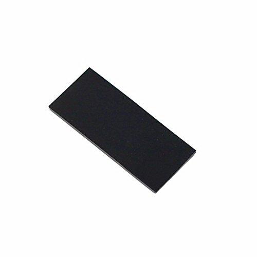 Silicon antideslizante con Adehsivo para Bateria 100x30x2mm (negro) (611)