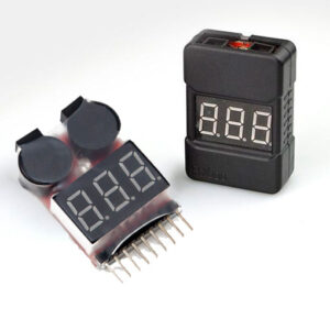 Li-Po Battery Voltage Tester & Low Voltage Buzzer Alarm (349)(401)