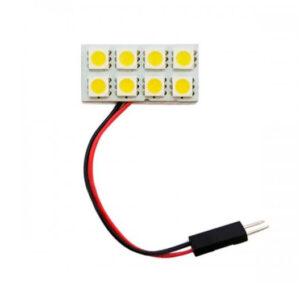Luz LED 2 filas de 4 Led Varios Colores(421)
