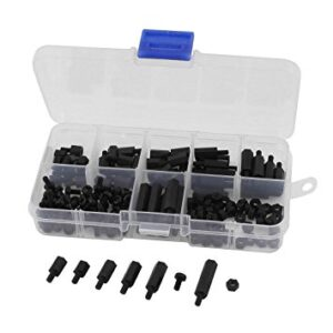M2 Nylon M-F Hex Spacers Screw Nut Assortment Set (575)
