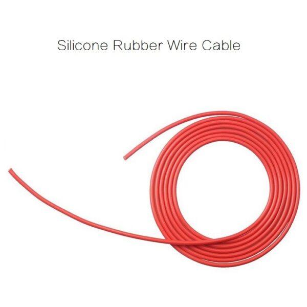 Cable de alambre de goma de silicon, en color negro y rojoCable de alambre de goma de silicon, en color negro y rojo