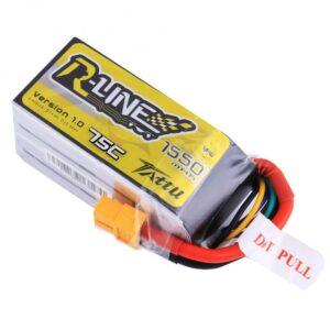 Tattu R-Line 1550mAh 4S1P 75C lipo battery XT60 Plug(438)